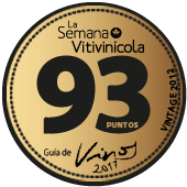 93 puntos en La Semana Vitivinícola 2017 (añada 2012)