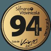 94 puntos en La Semana Vitivinícola 2017 (añada 2015)