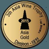 Medalla de Oro en Asia Wine Trophy 2015 (Alemania) (añada 2011)