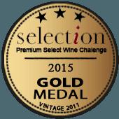 Medalla de Oro en Selection Premium Wine 2015 (Alemania) (añada 2011)