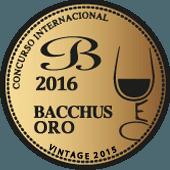 Medalla de Oro en Bacchus 2016 (añada 2015)