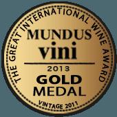 Medalla de Oro en Mundus Vini 2013 (Alemania) (añada 2011)