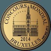 Medalla de Oro en Concours Mondial de Bruxelles 2014 (Bélgica) (añada 2012)
