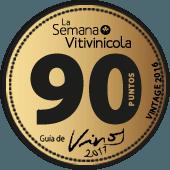 92 puntos en la guía La Semana Vitivinícola 2017 (añada 2016)