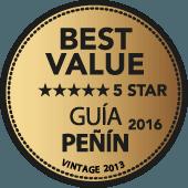 5 estrellas a la mejor relación Calidad - Precio en Guía Penín 2016 (añada 2013)