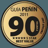 90 puntos y 5 estrellas a la mejor relación Calidad - Precio en Guía Penín 2011 (añada 2007)