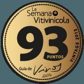93 puntos en la guía La Semana Vitivinícola 2016 (añada 2013)