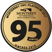 95 puntos Platinum Award en Monterey International Wine Competition 2017 (USA) (añada 2015)