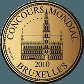 Medalla de Oro en Concours Mondial de Bruxelles 2010 (Bélgica)