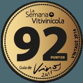 92 puntos en La Semana Vitivinícola 2017 (añada 2014)