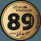89 puntos en la guía La Semana Vitivinícola 2017 (añada 216)