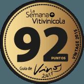 92 puntos en la guía La Semana Vitivinícola 2017 (añada 2015)