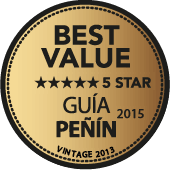 5 estrellas a la Mejor Calidad/Precio en Guía Peñín 2015 (añada 2013)