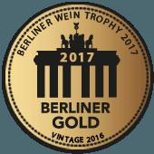 Medalla de Oro en Berliner Wein Trophy 2017 (Alemania) (añada 2016)