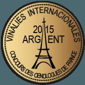 Medalla de Plata en Vinalies Internationales 2015 (Francia)
