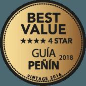 4 estrellas a la mejor relación Calidad - Precio en Guía Penín 2018 (añada 2016)