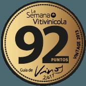 92 puntos en la guía La Semana Vitivinícola 2017 (añada 2013)
