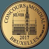 Medalla de Plata en Concuors Mondial de Bruxelles 2017 (Bélgica) (añada 2016)