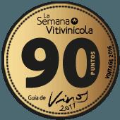 90 puntos en la guía La Semana Vitivinícola 2017 (añada 2016)