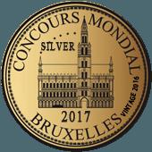 Medalla de Plata en Concours Mondial de Bruxelles 2017 (Bélgica) (añada 2016)