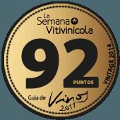 92 puntos en la guía La Semana Vitivinícola 2017 (añada 2014)