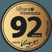 92 puntos en La Semana Vitivinícola 2017 (añada 2013)
