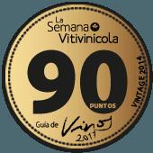 90 puntos en la guía La Semana Vitivinícola 2017 (añada 2014)