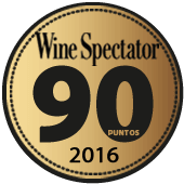 90 puntos en Wine Spectator 2016 (USA)