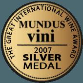 Medalla de Plata en Mundus Vini 2007 (Alemania)