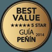5 estrellas a la Mejor Calidad-Precio en Guía Peñín 2014