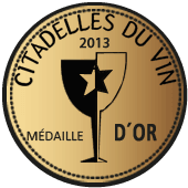 Medalla de Oro en Ciradelles du Vin 2013 (Francia)