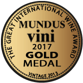 Medalla de Oro en Mundus Vini 2017 (Alemania) (añada 2013)