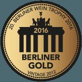 Medalla de Oro en Berliner Wein Trophy 2016 (Alemania) (añada 2012)