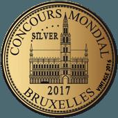 Medalla de Plata en Concours Mondial de Bruxelles 2017 (añada 2016)