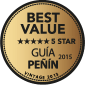 5 estrellas a la mejor relación Calidad - Precio en Guía Penín 2015 (añada 2013)