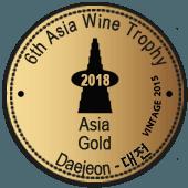 Medalla de Oro en Asia Wine Trophy 2018 (añada 2015)