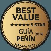 5 estrellas a la Mejor Calidad-Precio en Guía Peñín 2016 (añada 2013)