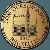 Medalla de Plata en Concours Mondial de Bruxelles 2017 (Bélgica) (añada 2014)