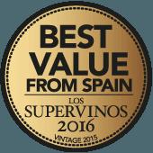 Supre vino del año en España en guía Los Supervinos 2016 (añada 2015)