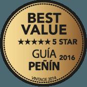 5 estrellas Mejor Calidad-Precio Guía Peñín 2016 (añada 2014)