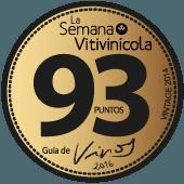 93 puntos en la guía La Semana Vitivinícola 2017 (añada 2014)