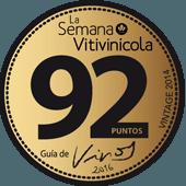 92 puntos en la guía La Semana Vitivicóla 2016 (añada 2014)