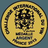 Medalla de Plata en Challenge International du Vin 2013 (Francia)