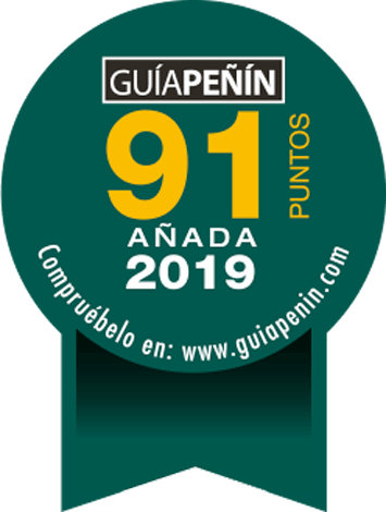 91 puntos en Guía Peñín 2022 (añada 2019)